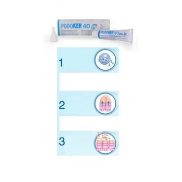 Podoker 40 gel azione cheratolitica tubo da 30 ml con applicatore