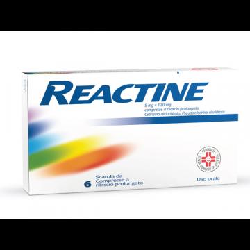 Reactine 5 mg + 120 mg Antistaminico 6 compresse