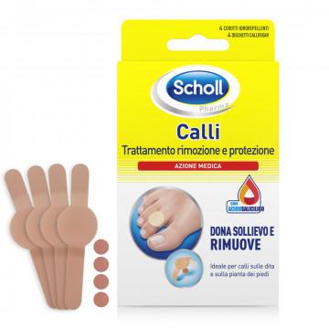 Cerotto callifugo trattamento rimozione/protezione calli 4 cerotti idrorepellenti + 4 dischetti callifughi