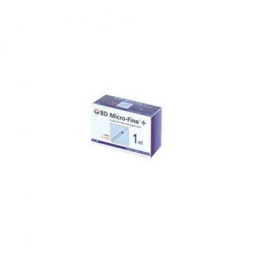Siringa per insulina becton dickinson 1 ml 100 ui ago 29 gauge 30 pezzi