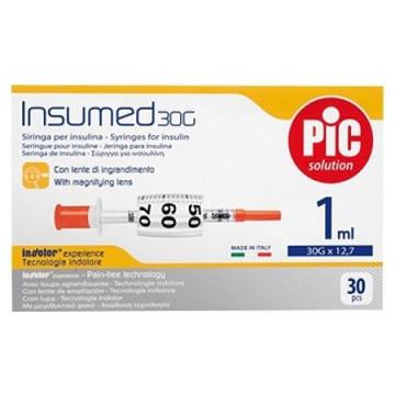 Siringa per insulina PIC 1 ml 100 ui ago 26 G 1/2 1 pezzo
