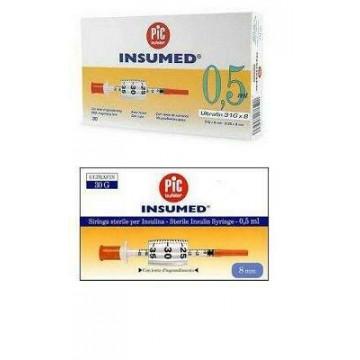 Pic Siringa Insulina Insumed 0,5 ml ago 30 g 8 mm 30 pezzi