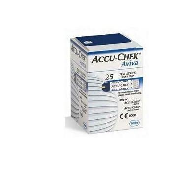 Accu-chek aviva strisce misurazione glicemia 25 pezzi