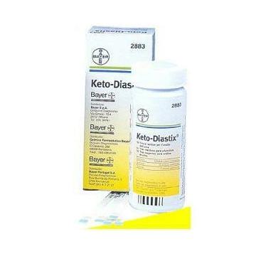 Strisce misurazione glicosuria e chetonuria ketodiastix 50 pezzi