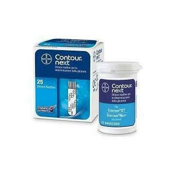 Strisce reattive test glicemia Contour next 25 pezzi