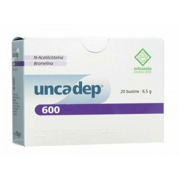 Uncadep 600 Mucolitico e Antinfiammatorio 20 bustine