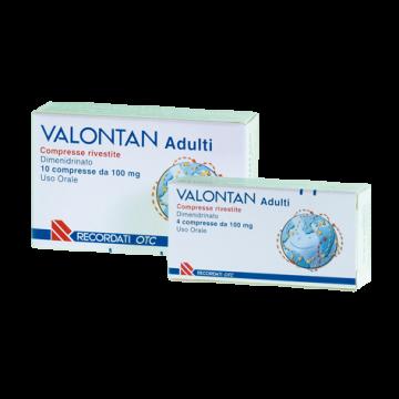 Valontan 4 compresse rivestite 100 mg