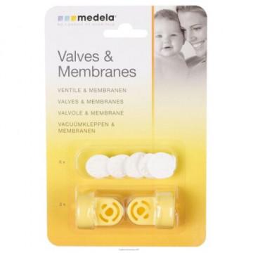 Valvole e membrane blister 2 valvole 6 membrane