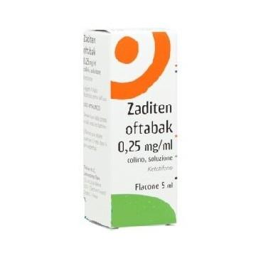 Zaditen Oftabak Collirio Antistaminico 0,25 mg/ml 5 ml