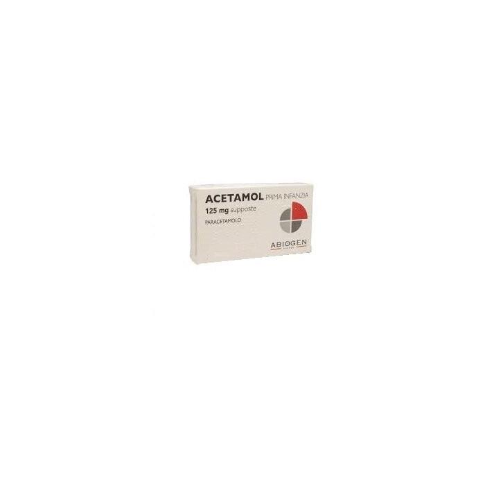 Acetamol prima infanzia 10 supposta 125 mg
