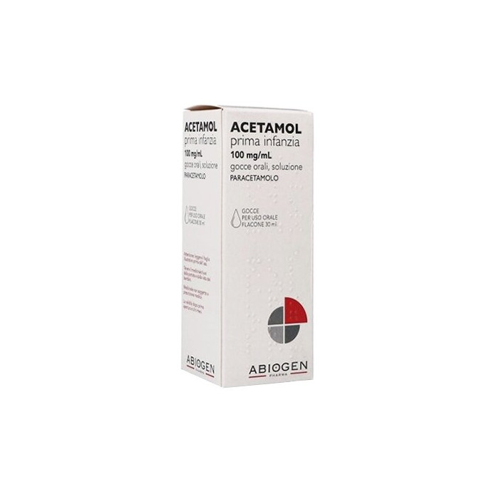 Acetamol 100 mg/ml prima infanzia orale gocce 30 ml