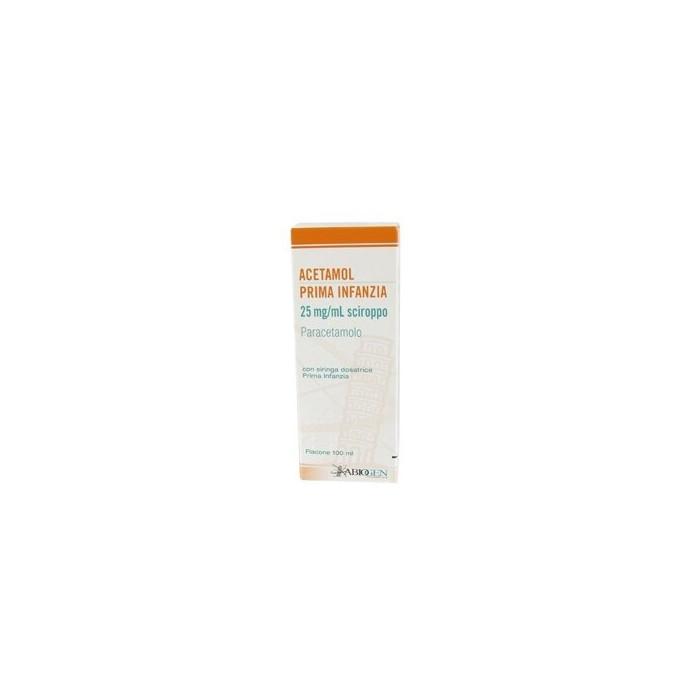 Acetamol 125 mg/5 ml prima infanzia sciroppo 100 ml
