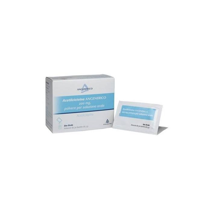 Acetilcisteina 200 mg angenerico 30 bustine