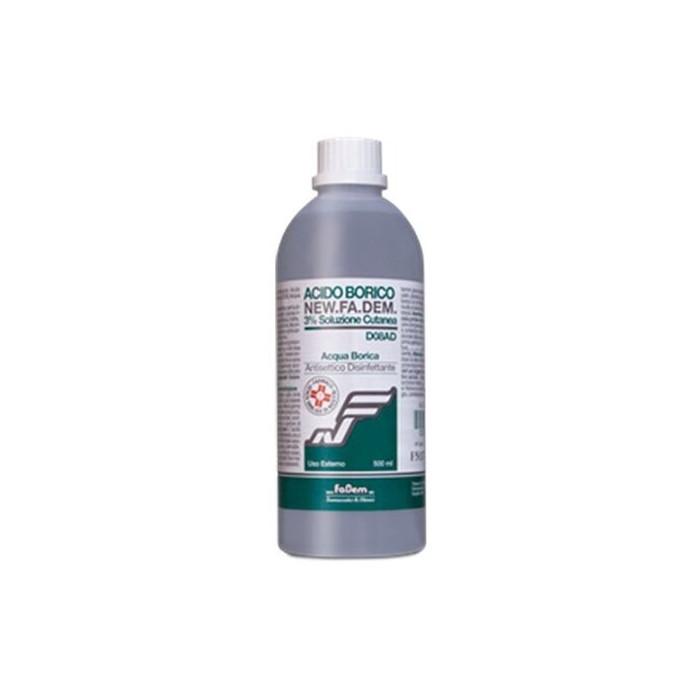 Acido borico 3% new fadem soluzione cutanea 500 ml