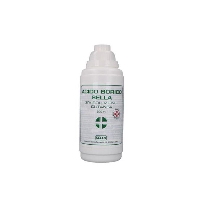 Acido borico 3% sella soluzione cutanea 500 ml