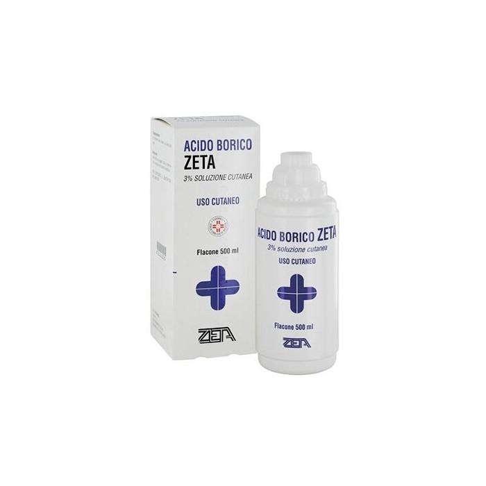 Acido borico 3% zeta soluzione cutanea 500 ml