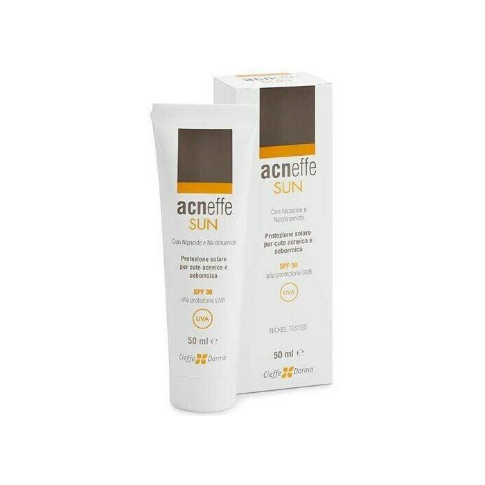 Acneffe sun spf 30 alta protezione uvb cute acneica seborroica 50 ml