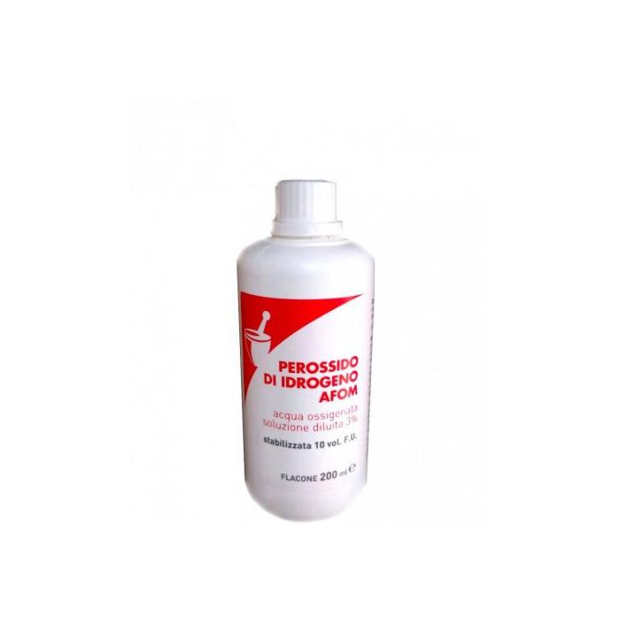 Afom Perossido di Idrogeno 3% 10 volumi  acqua ossigenata 200 ml