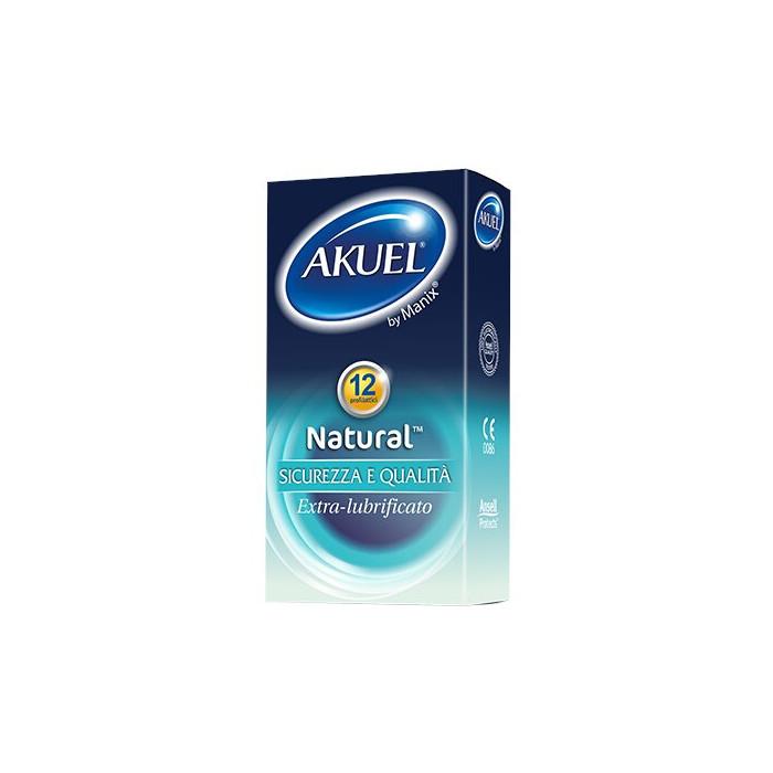 Profilattico ansell akuel by manix natural b 12 pezzi