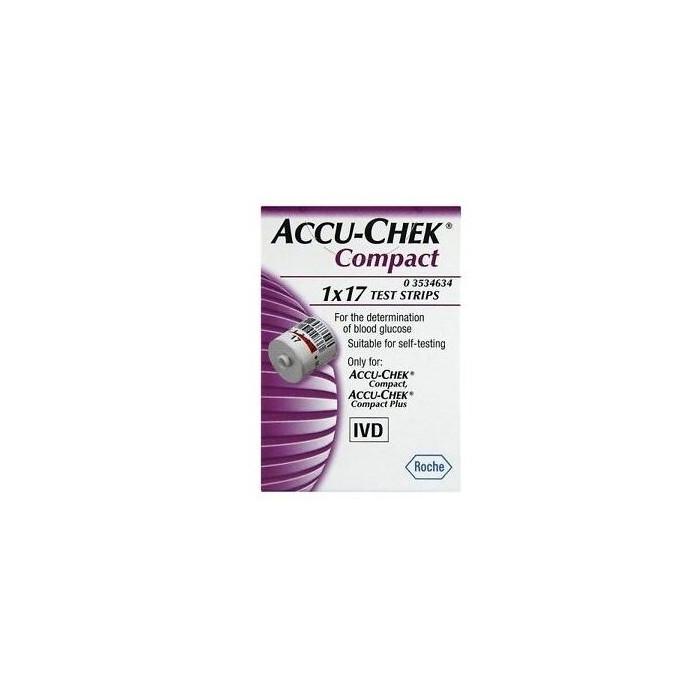 Accu-chek compact 17 strisce  reattive glicemia
