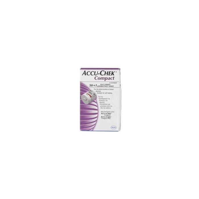 Accu-chek compact 50+1 strisce reattive glicemia