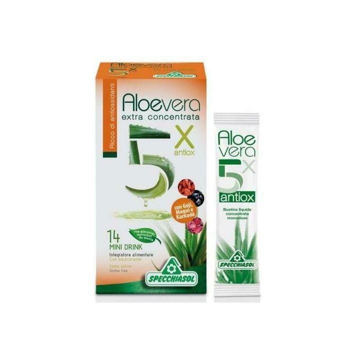 Aloe 5x con antiossidanti 14 bustine