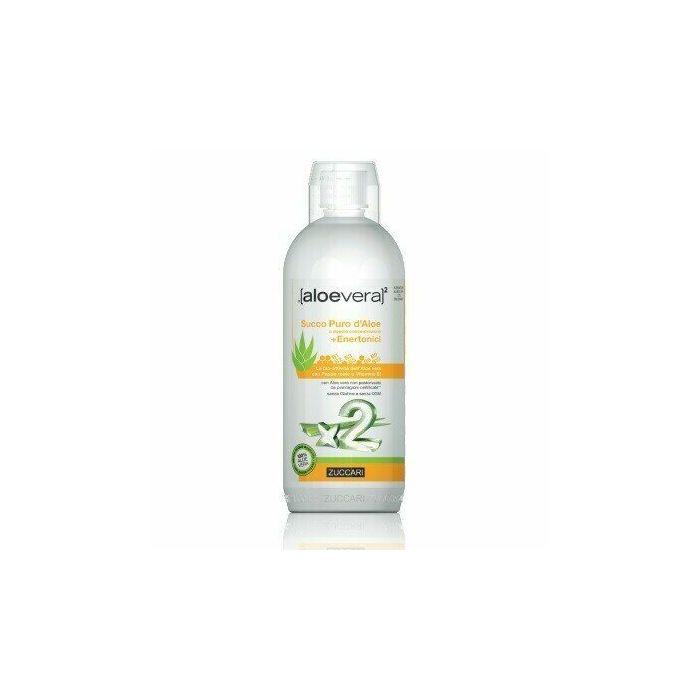 Aloevera2 succo puro d'aloe doppia concentrazione + enertonici 1 litro