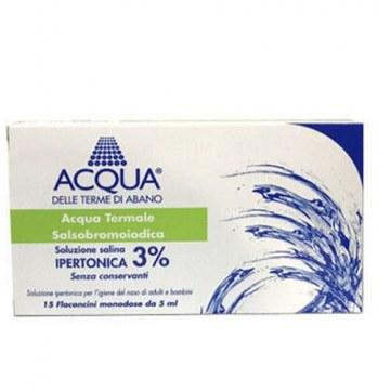 Acqua delle terme di abano soluzione ipertonica 3% per lavaggio nasale