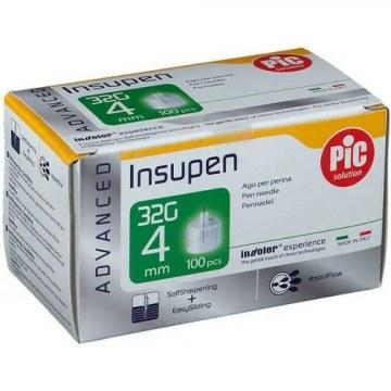 Ago penna insulina pic insupen advance gauge 32x4 mm 100 pezzi