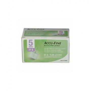 Ago per penna da insulina accu-fine pen needle accu-chek gauge 31 x 5mm 100 pezzi