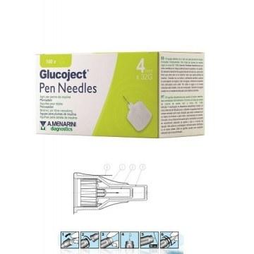 Ago per penna da insulina glucoject lunghezza 4 mm gauge 32100 pezzi