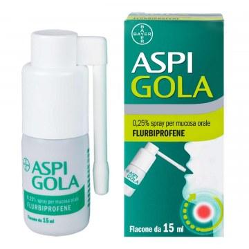 Aspi gola 0,25% spray mucosa orale 15 ml