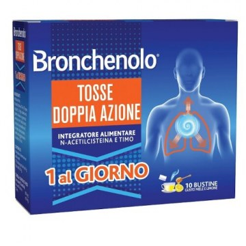 Bronchenolo tosse doppia azione bustine