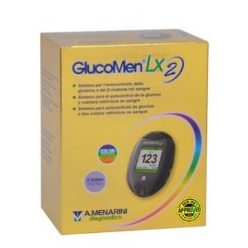 Glucometro glicemia e chetonemia glucomen lx2 set meter