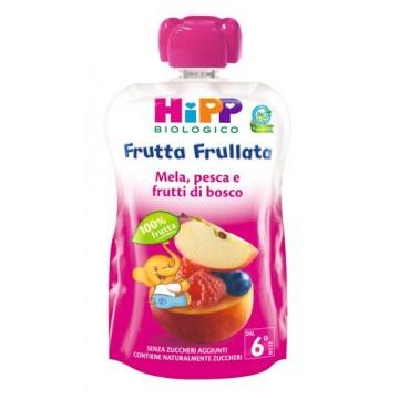 Hipp bio hipp bio frutta frullata mela pesca frutti di bosco90 g