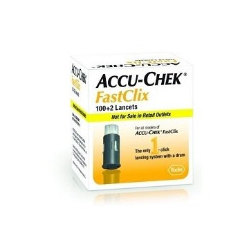 Accu-chek Fastclix lancette pungidito glicemia 100+2