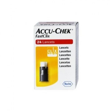 Accu-chek fastclix 24 lancette per test glicemia