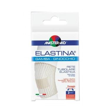 Rete tubolare elastica ipoallergenica master-aid elastina gamba/ginocchio 3 mt in tensione calibro 5 cm