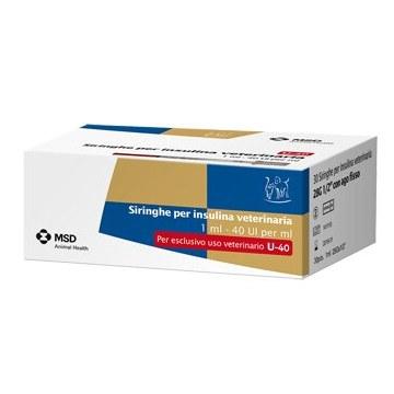 Siringa Insulina Veterinaria MSD-AH 30 siringhe 40ui/ml