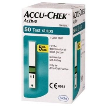 Strisce misurazione glicemia accu-chek active strips 50 pezzi infusione retail
