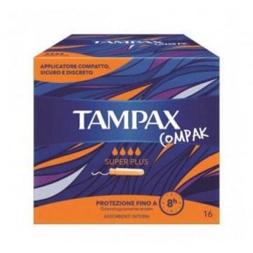 Tampax compak assorbente interno super plus 16 pezzi