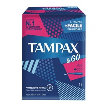 Tampax & go mini 18 pezzi