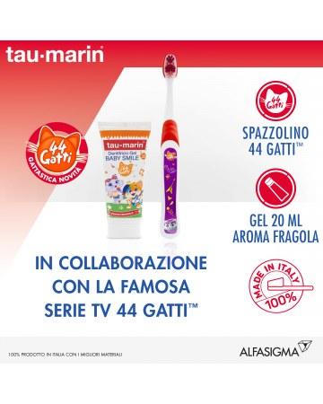 Tau marin set baby smile special edition 44 gatti dentifricio fragola 20 ml + spazzolino