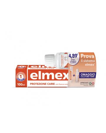 Elmex dentifricio protezione carie + collutorio 100 ml