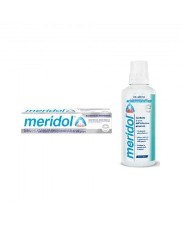 Special pack meridol whitening 2 pezzi 1 dentifricio meridolwhitening 75 ml + 1 collutorio meridol 100 ml in omaggio