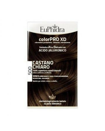 Euphidra colorpro xd 500 cast chiaro gel colorante capelli in flacone + attivante + balsamo + guanti