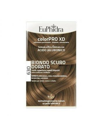 Euphidra colorpro xd 630 biondo scuro dorato gel colorante capelli in flacone + attivante + balsamo + guanti