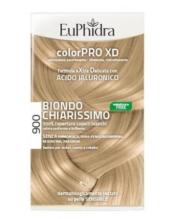 Euphidra colorpro xd 900 biondo chiarissimo gel colorante capelli in flacone + attivante + balsamo + guanti