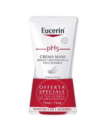 Eucerin ph5 crema mani bipacco 75 ml + 75 ml