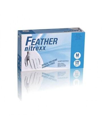 Guanti monouso in nitrile blu senza polvere box 100 guanti M